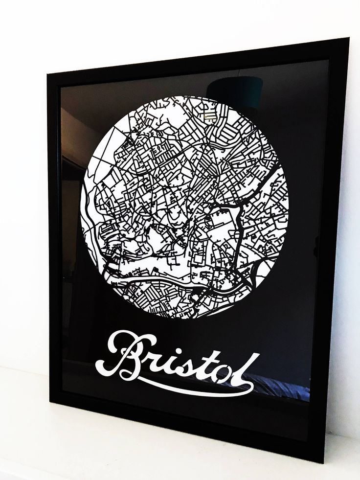 Excited to share the latest addition to the #etsy shop: Bristol Map - Laser Cut - Minimal http://etsy.me/2hSy0BD #housewares #homedecor #black #white #bedroom #bristoldesignforge