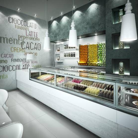 Bocchini's Logos modular design plus their new KUBO display cabinet