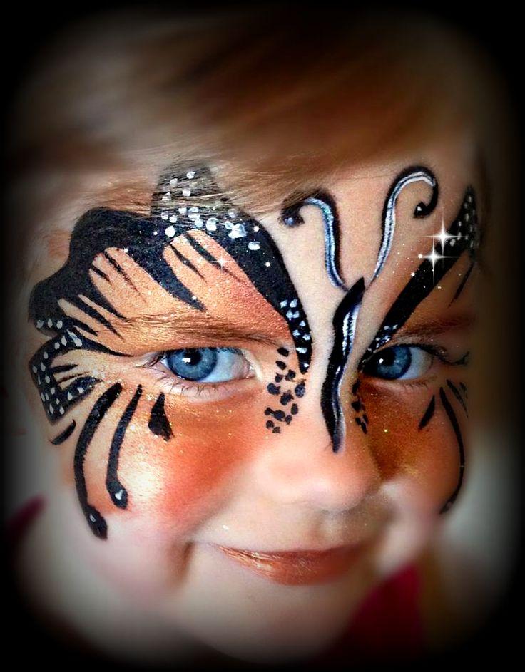 Girls Face Paint Butterfly