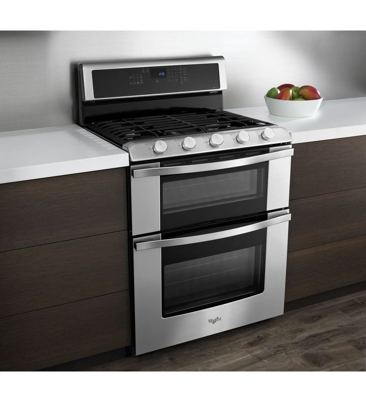 whirlpool 60 total cu ft double oven gas range with convection cooking