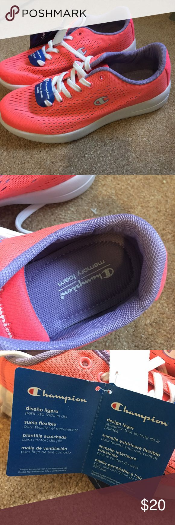 Women's Champion Memory Foam Sneakers Brand new never worn Champion sneakers with memory foam size 7. Make me an offer💖 Champion Shoes Sneakers