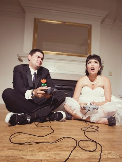 When Retro Gamers Wed