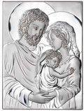 Srebrny Obrazek Święta Rodzina - prezent na chrzest, ślub, podziękowanie dla rodziców.