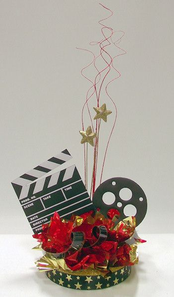 diy centerpieces for hollywood party | Hollywood Movie Night Centerpiece Kit Could maybe make our own?