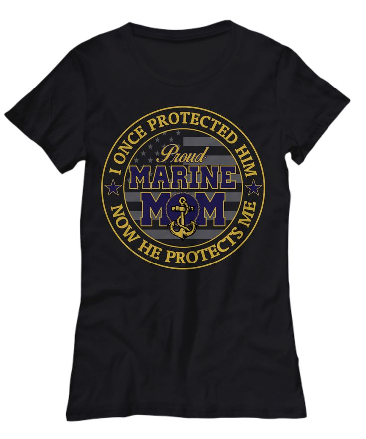 USMC proud marine mom women's t-shirt