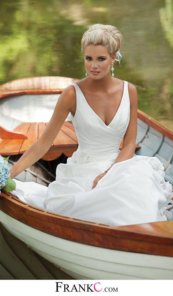 sweetheart wedding dress,v-neck wedding dress