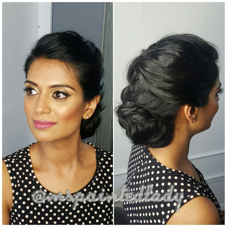 #desi bridal makeup and hair. Dallas Indian Bride by Ms Painted Lady. updo