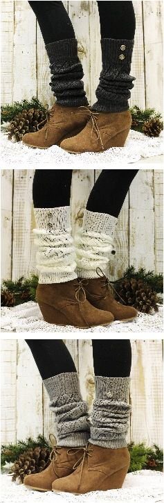 Leg warmer LOVE! Cuddly knit leg warmers that love your legs for this Winter.