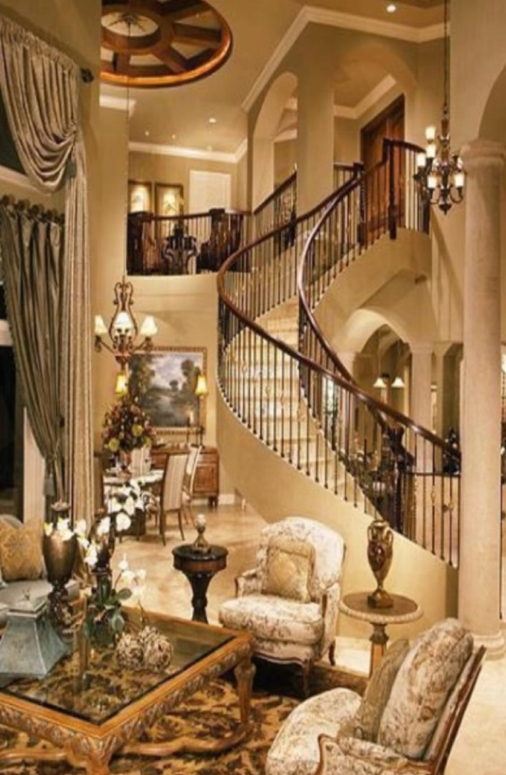 Luxury home interiors grand mansions castles dream for Fine home decor