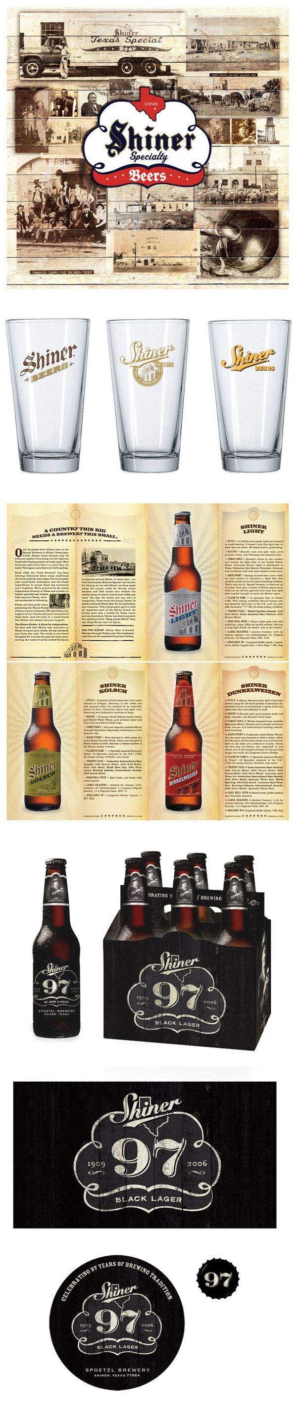 Shiner Beers by Knoed , via Behance: Design Inspiration, Graphic Design, Branding Design, Awesome Branding, Branding Packaging, American Branding, Beers Branding, Beer Branding, Shiner Beers