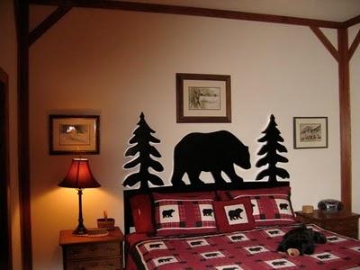black bear bedroom outline for stencil