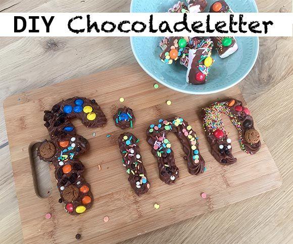 DIY: Chocoladeletter