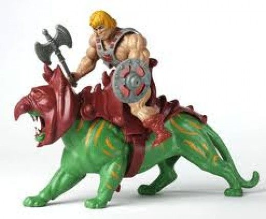 He-Man and Battle Cat.