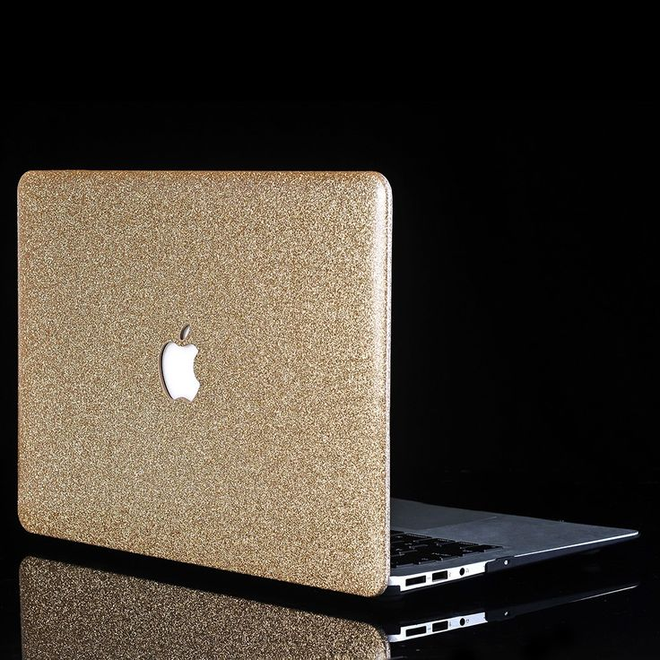 Coque MacBook Pro 15 Touch Bar Paillettes - Doré