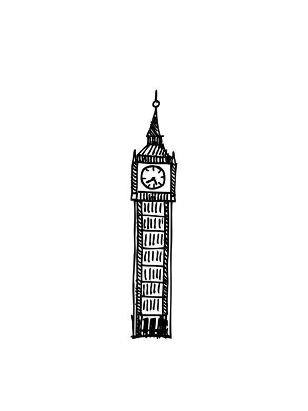 Big Ben Doodle Natural History London Wall Art London Art Print London Drawing