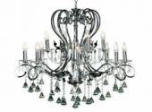 Lampa metalowa 12 x E14