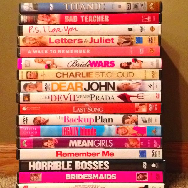 a collection of the sappiest chick flicks that will make me laugh and cry all in under 2 hours...