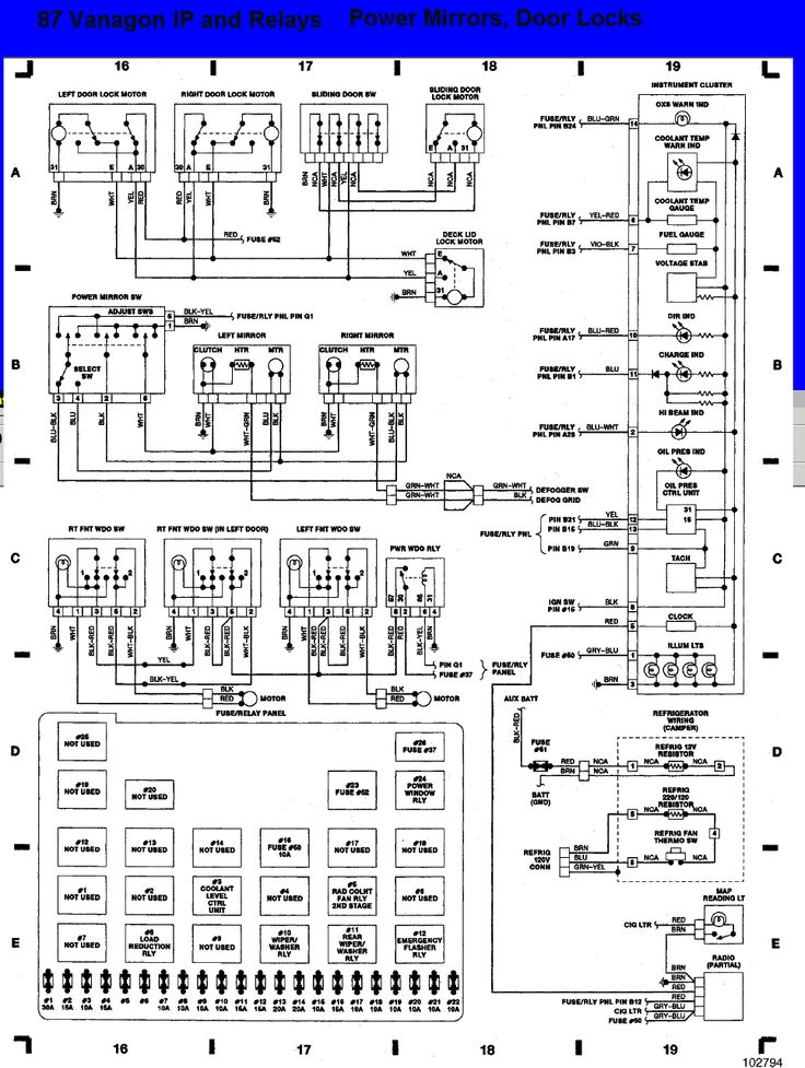 vanagon fuse panel diagram - Google Search