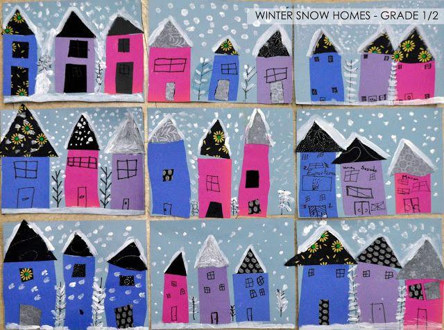 artisan des arts: Winter snow homes - grade 1/2