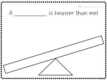 Kindergarten Measuring Activity