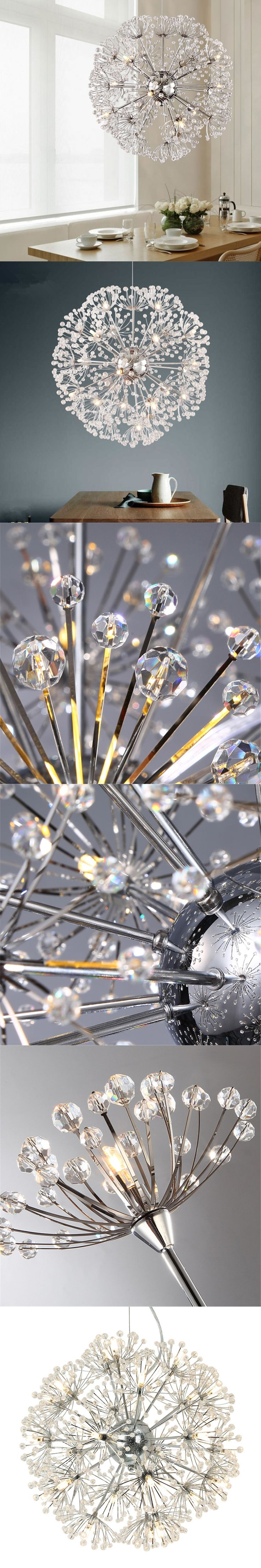 Best 25 modern crystal chandeliers ideas on pinterest crystal modern crystal chandeliers lighting dandelion pendant lamp for kitchen living room lustre light fixture hanging lamp arubaitofo Images