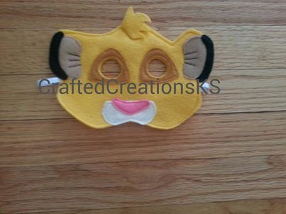 Simba Mask Lion King Simba costume Lion King by CraftedCreationsKS, $7.00