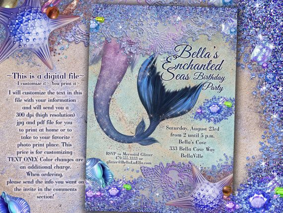 Wonderfully Whimsical Childrens Invitations by Bella LuElla    ~~~This is a digital file~~~ I customize it~~~You print it! ~High resolution ~ 300 DPI
