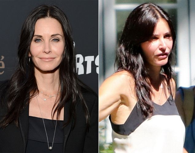Courteney Cox seen on her directorial debut for the new film 'Hello I Must Be Going' in Los Angeles, California.