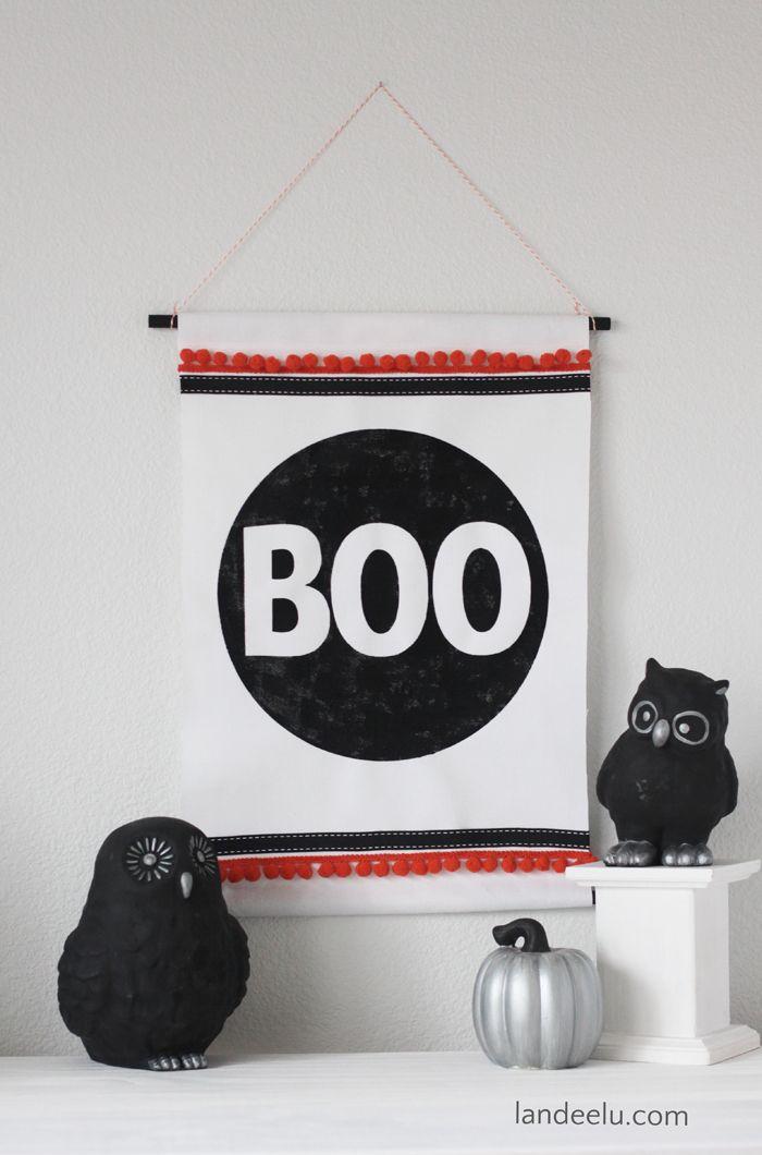 BOO Wall Hanging | Halloween Decorations