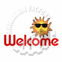Welcome with Sun Animated Clipart