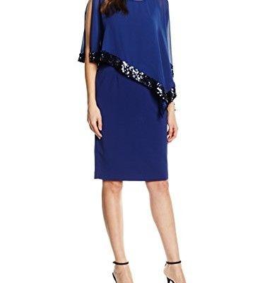 Gina-Bacconi-Damen-Kleid-Sequin-Trim-Crepe-and-Chiffon-0