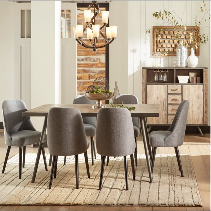 The American Retrospective Dining Room Set Is A Perfect Blend Of Mid  Century Modern And Industrial