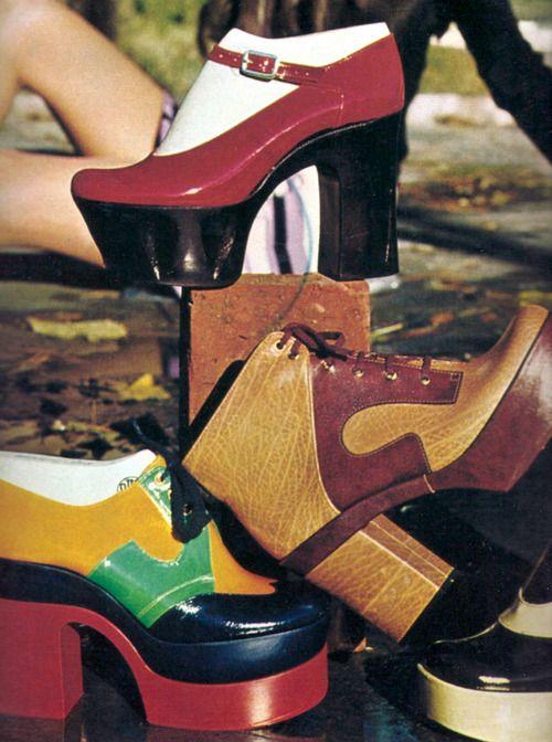 Platform shoes, photo by Barbara Pflaum,1975