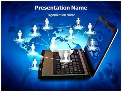 24 best networking powerpoint presentation templates images on, Presentation templates