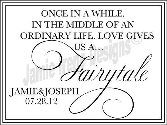 #Wedding Fairytale Quote Sign by WeddingsByJamie on Etsy, $10.00