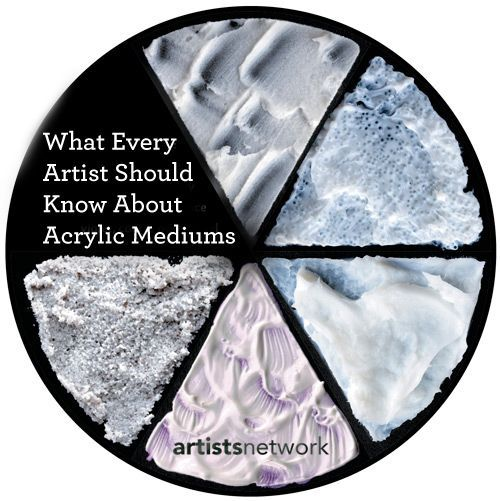 An all-in-one guide to acrylic paints, from FAQs and chemistry considerations to useful tools, mediums and tips! #acrylics #acrylicpainting