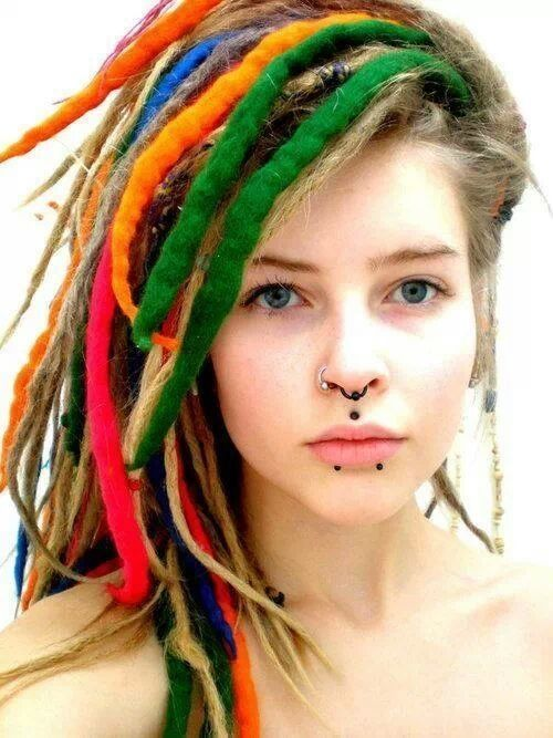 picture of new hair style septum nose medusa and dolphins bites piercings 4753 | d7b53aa46a2938d162c4753e6acaccd9 colorful hair body mods
