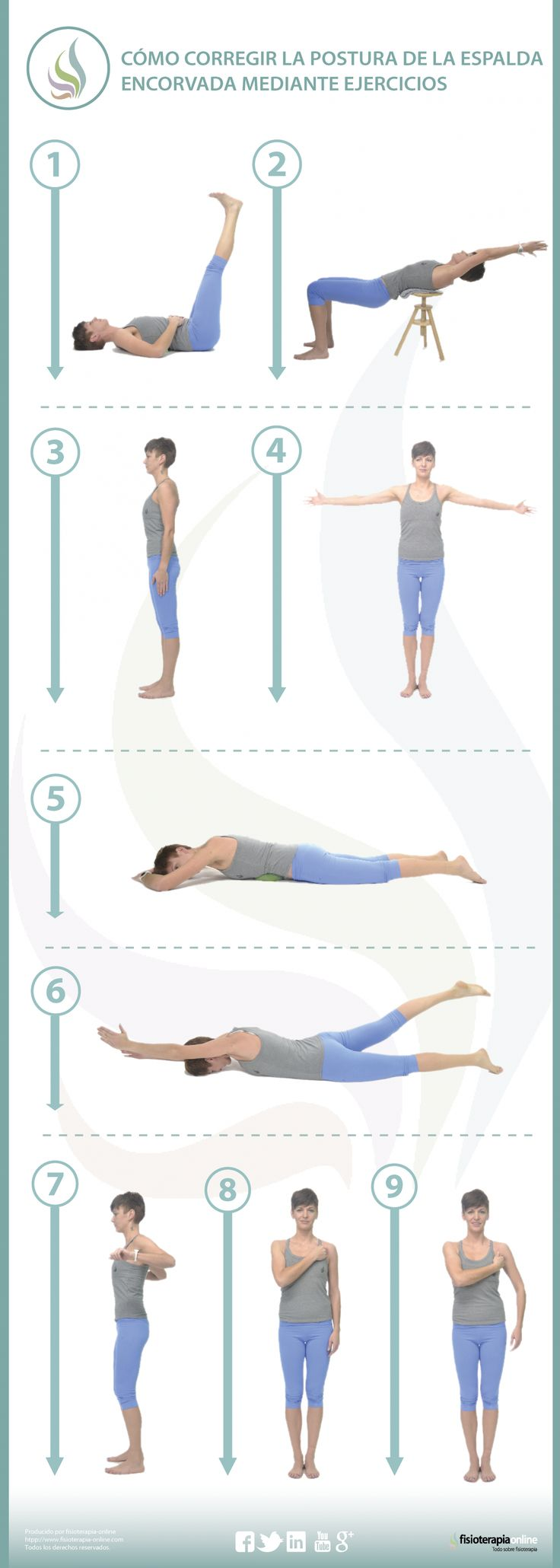 9 ejercicios para mejorar tu hipercifosis o espalda encorvada