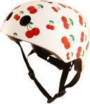 Kask Kiddimoto S  - Cherry - obowiązkowy towarzysz przejażdżek, na rowerze, rolkach czy hulajnodze
