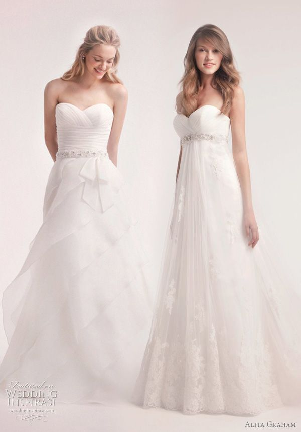 THE ONE ON THE RIGHT!!! OMG!!! belted wedding dresses alita graham