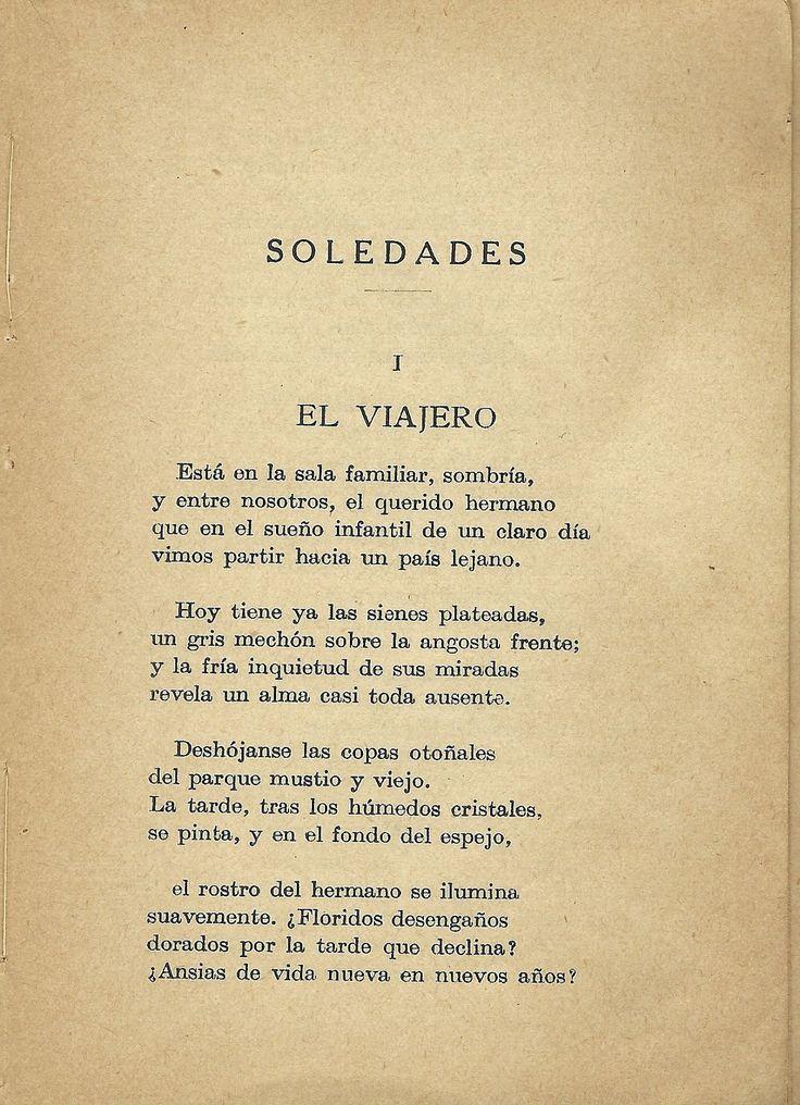 """Primera etapa: Modernismo Simbolista. Antonio Machado publica el poema """"El Viajero"""" de su obra """"Soledades"""" en el 1903. De nuevo observamos recuerdos nostálgicos sobre su juventud, su familia y su hogar. Nos ha gustado la forma en la que se refiere a su hermano."""
