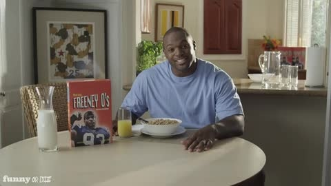 Dwight Freeney's Cereal Commercial- FUNNY OR DIE!
