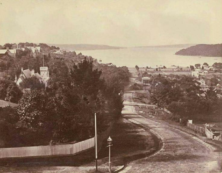 Ocean Ave,Double Bay,in eastern Sydney in 1876. •State Library of NSW•