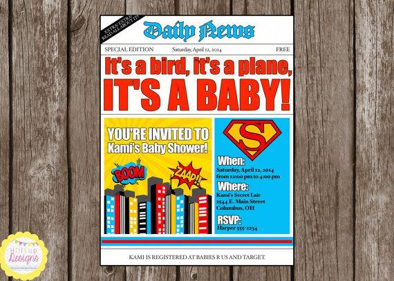 Superhero Baby Shower Invitations Diabetesmangfo