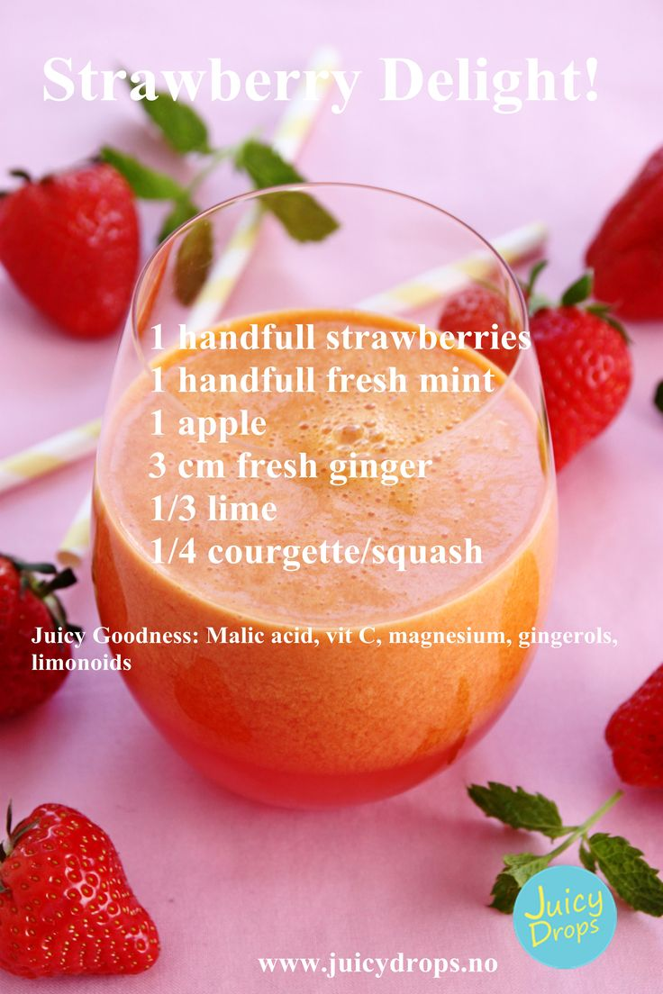 When in season you can juice strawberries as well!