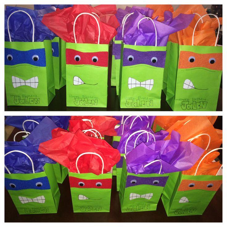 Ninja turtle birthday bags