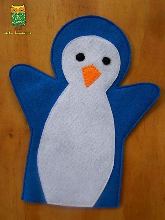 marionnette en feutrine : le pingouin