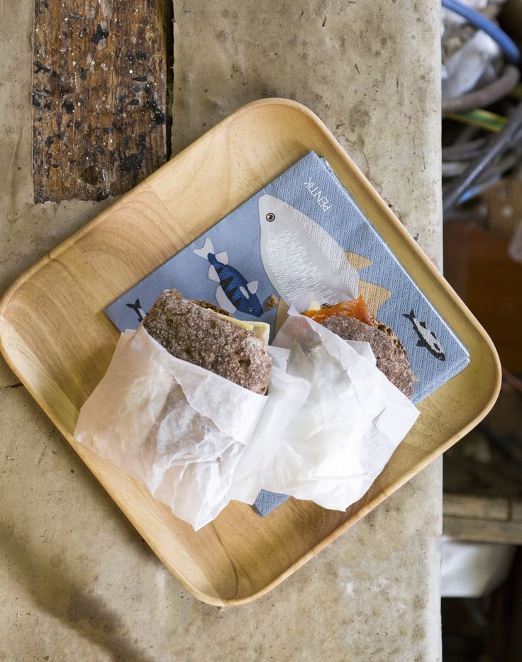 Ahti Napkin | Pentik | Ahti (God of Depths) napkins are perfect for any fisherman's setting both in the cottage and at home.