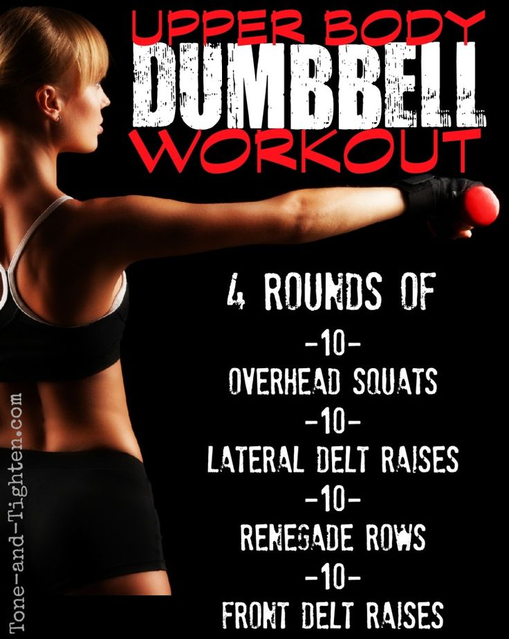 Upper body arm and shoulder workout with dumbbells on Tone-and-Tighten.com
