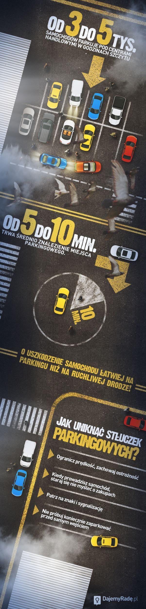 Czy wiesz, że o stłuczkę łatwiej na parkingu pod centrum handlowym niż na ruchliwej drodze?